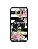 Coque Charming as Fuck Fleurs pour Samsung Galaxy S7 Edge - Maryline Cazenave