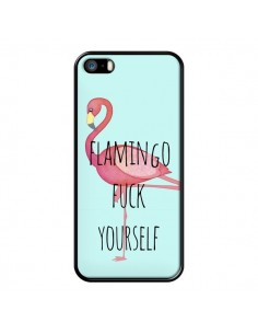 Coque Flamingo Fuck Yourself pour iPhone 5/5S et SE - Maryline Cazenave