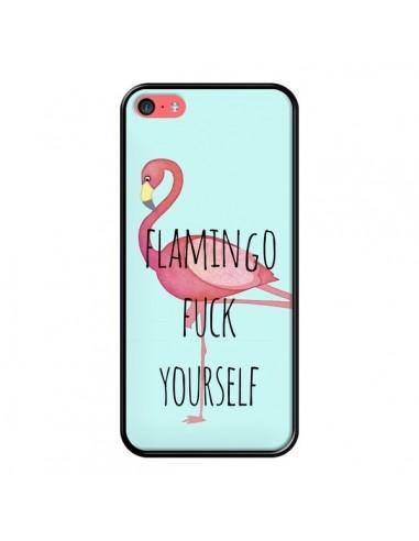 Coque iPhone 5C Flamingo Fuck Yourself - Maryline Cazenave