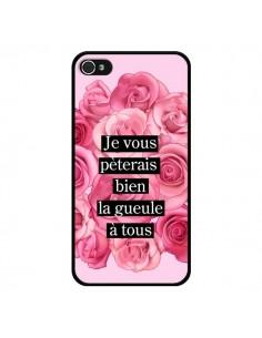 Coque Je vous pèterais Fleurs pour iPhone 4 et 4S - Maryline Cazenave