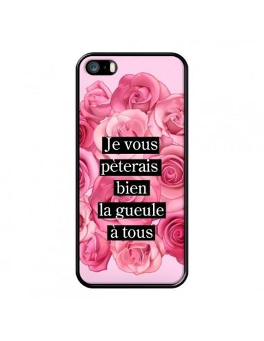Coque Je vous pèterais Fleurs pour iPhone 5/5S et SE - Maryline Cazenave