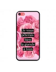 Coque Je vous pèterais Fleurs pour iPhone 5C - Maryline Cazenave