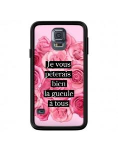Coque Je vous pèterais Fleurs pour Samsung Galaxy S5 - Maryline Cazenave