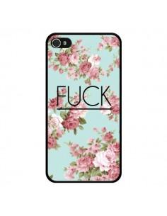 Coque Fuck Fleurs pour iPhone 4 et 4S - Maryline Cazenave