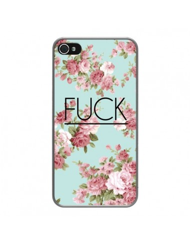 Coque iPhone 4 et 4S Fuck Fleurs -...