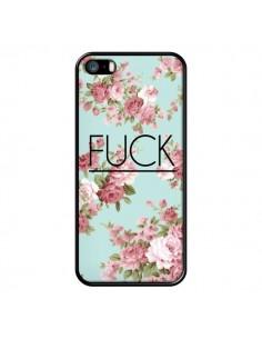 Coque Fuck Fleurs pour iPhone 5/5S et SE - Maryline Cazenave