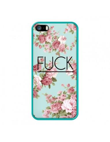 Coque iPhone 5/5S et SE Fuck Fleurs -...