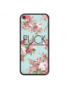 Coque Fuck Fleurs pour iPhone 5C - Maryline Cazenave