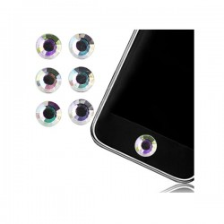 Sticker Bouton Home Diamant Blanc pour iPhone, iPad, iTouch, iPod
