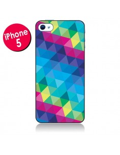 Coque Azteque Gheo Bleu pour iPhone 5 - Javier Martinez