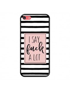 Coque Say Fuck A Lot Bandes pour iPhone 5C - Maryline Cazenave
