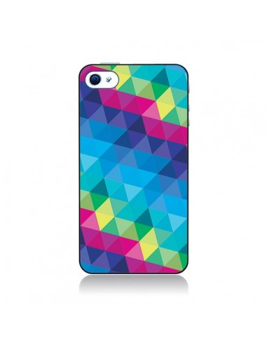 Coque Azteque Gheo Bleu pour iPhone 4 et 4S - Javier Martinez
