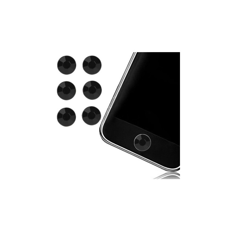 Sticker Bouton Home Diamant Noir pour iPhone, iPad, iTouch, iPod