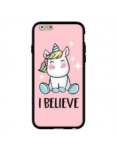 Coque iPhone 6 et 6S Licorne I Believe - Maryline Cazenave