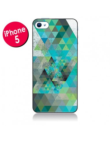 Coque Azteque Gheo Vert pour iPhone 5 - Javier Martinez