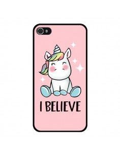 Coque iPhone 4 et 4S Licorne I Believe - Maryline Cazenave