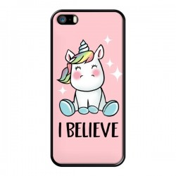 Coque Licorne I Believe pour iPhone 5/5S et SE - Maryline Cazenave