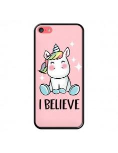 Coque iPhone 5C Licorne I Believe - Maryline Cazenave