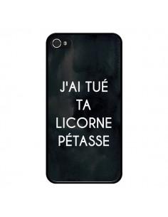 Coque iPhone 4 et 4S J'ai tué ta Licorne Pétasse - Maryline Cazenave