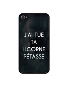 Coque J'ai tué ta Licorne Pétasse pour iPhone 4 et 4S - Maryline Cazenave