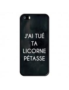 Coque J'ai tué ta Licorne Pétasse pour iPhone 5/5S et SE - Maryline Cazenave