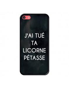 Coque iPhone 5C J'ai tué ta Licorne Pétasse - Maryline Cazenave