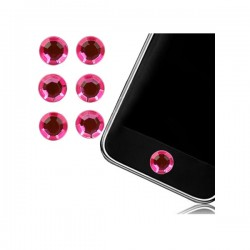 Sticker Bouton Home Diamant Rose pour iPhone, iPad, iTouch, iPod