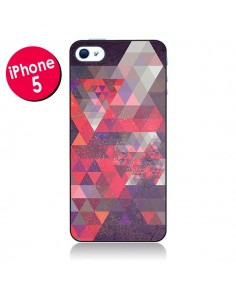 Coque Azteque Gheo Violet pour iPhone 5 - Javier Martinez