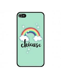 Coque iPhone 4 et 4S Chieuse Arc en Ciel - Maryline Cazenave