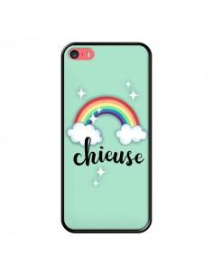 Coque iPhone 5C Chieuse Arc en Ciel - Maryline Cazenave