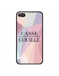 Coque iPhone 4 et 4S Casse Couille - Maryline Cazenave