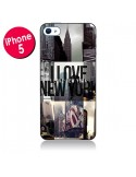 Coque I love New Yorck City noir pour iPhone 5 - Javier Martinez