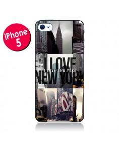 Coque I love New Yorck City noir pour iPhone 5 - Javier Martinez