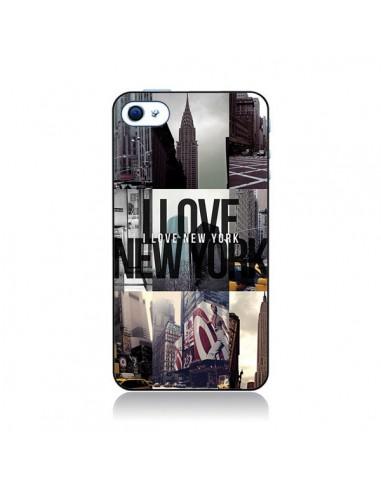 Coque I love New Yorck City noir pour iPhone 4 et 4S - Javier Martinez