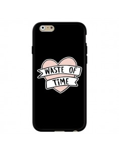 Coque iPhone 6 et 6S Waste of Time Coeur - Maryline Cazenave