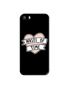 Coque iPhone 5/5S et SE Waste of Time Coeur - Maryline Cazenave