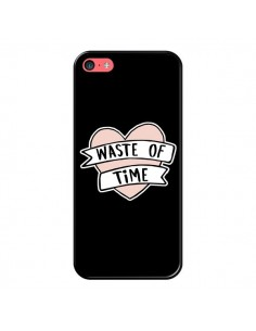 Coque iPhone 5C Waste of Time Coeur - Maryline Cazenave