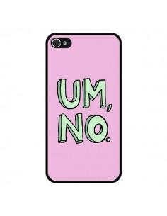 Coque iPhone 4 et 4S Um, No - Maryline Cazenave