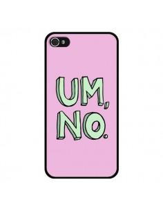 Coque iPhone 4 et 4S Um, No - Maryline Cazenave