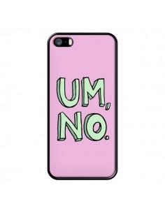 Coque iPhone 5/5S et SE Um, No - Maryline Cazenave