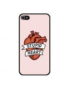 Coque iPhone 4 et 4S Stupid Heart Coeur - Maryline Cazenave