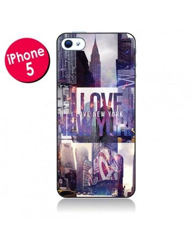 Coque I love New Yorck City violet pour iPhone 5 - Javier Martinez