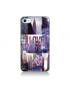 Coque I love New Yorck City violet pour iPhone 4 et 4S - Javier Martinez
