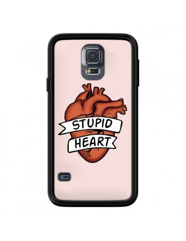 Coque Stupid Heart Coeur pour Samsung Galaxy S5 - Maryline Cazenave