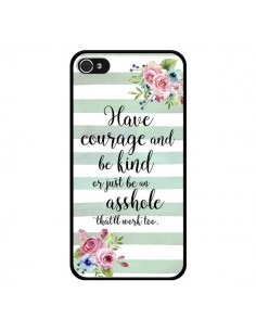 Coque iPhone 4 et 4S Courage, Kind, Asshole - Maryline Cazenave