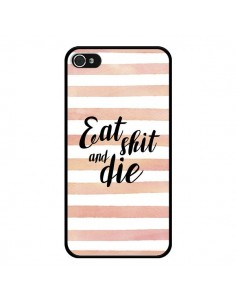 Coque iPhone 4 et 4S Eat, Shit and Die - Maryline Cazenave