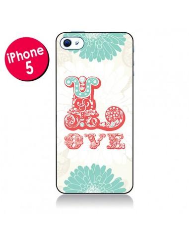 Coque Love Fleurs Flourish pour iPhone 5 - Javier Martinez