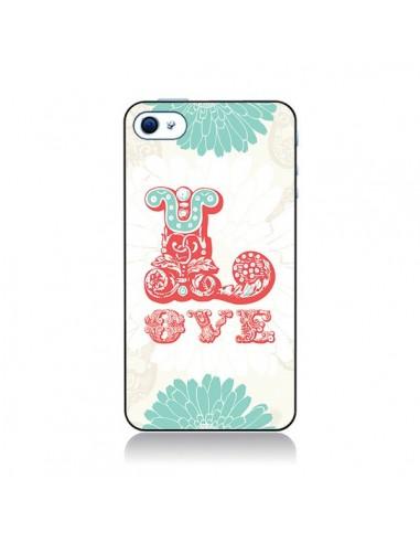 Coque Love Fleurs Flourish pour iPhone 4 et 4S - Javier Martinez