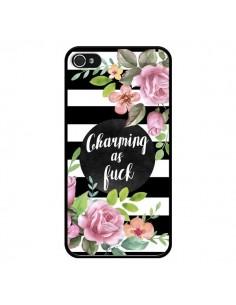 Coque iPhone 4 et 4S Charming as Fuck Fleurs - Maryline Cazenave