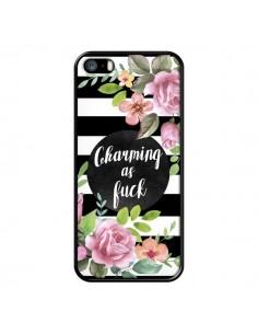 Coque iPhone 5/5S et SE Charming as Fuck Fleurs - Maryline Cazenave